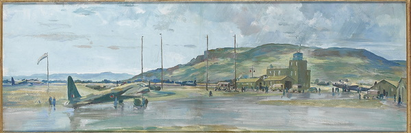 Artist Charles Cundall: Study for Coastal Operational Training Unit (Limavady, Northern Ireland), circa 1942