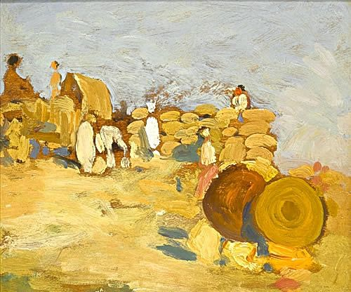 Artist Sir Gerald Festus Kelly: River Bank Pakokku, 9 February 1909