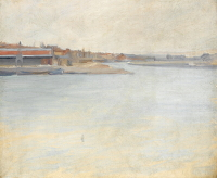 Artist Albert de Belleroche: Boulogne sur Mer - a View of the Port, circa 1890