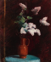 Artist Albert de Belleroche: Still life with White Lilacs