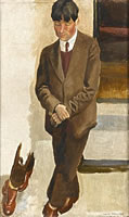 Artist Richard Carline: Portrait of Stanley Spencer, study for 'Gathering on the Terrace at 47 Downshire Hill, Hampstead', 1924–5
